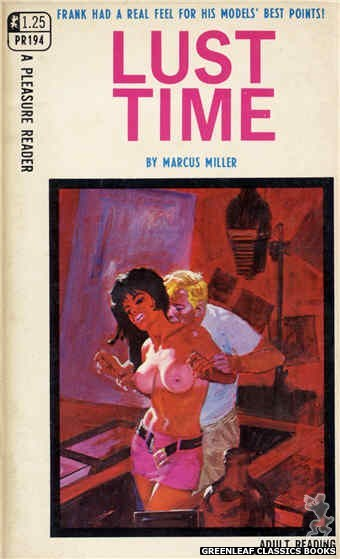 Pleasure Reader PR194 - Lust Time by Marcus Miller, cover art by Robert Bonfils (1968)