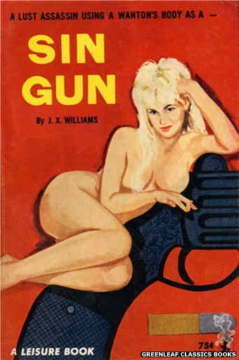 Leisure Books LB665 - Sin Gun by J.X. Williams, cover art by Unknown (1964)