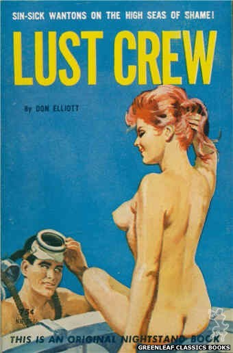 Nightstand Books NB1648 - Lust Crew by Don Elliott, cover art by Robert Bonfils (1963)