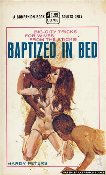 Companion Books CB703 - Baptized in Bed by Hardy Peters, cover art by Unknown (1971)