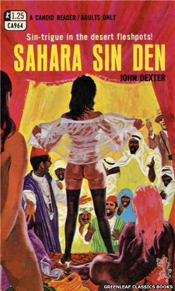 Candid Reader CA964 - Sahara Sin Den by John Dexter, cover art by Robert Bonfils (1969)