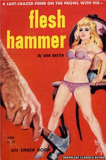 Ember Books EB909 - Flesh  Hammer by John Baxter, cover art by Robert Bonfils (1963)