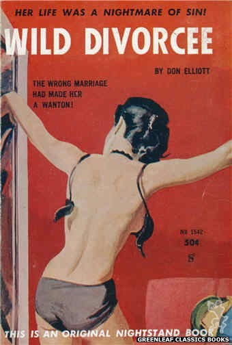 Nightstand Books NB1542 - Wild Divorcee by Don Elliott, cover art by Unknown (1961)