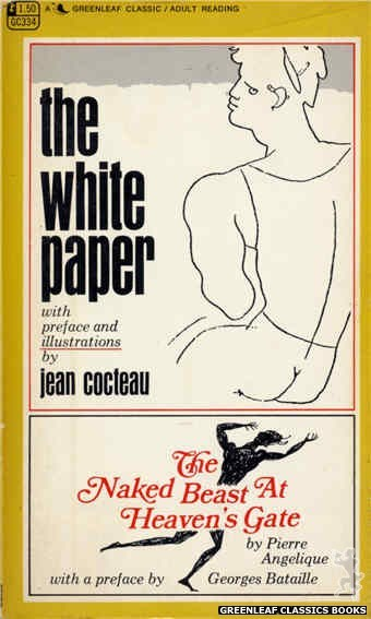 Greenleaf Classics GC334 - The White Paper by Pierre Angelique, cover art by Jean Cocteau (1968)