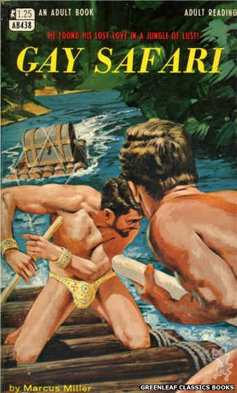 Adult Books AB438 - Gay Safari by Marcus Miller, cover art by Darrel Millsap (1968)