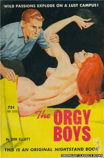 Nightstand Books NB1633 - The Orgy Boys by Don Elliott, cover art by Unknown (1962)