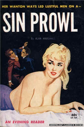 Evening Reader ER708 - Sin Prowl by Alan Marshall, cover art by Unknown (1963)