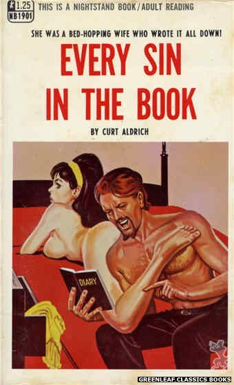 Nightstand Books NB1901 - Every Sin In The Book by Curt Aldrich, cover art by Tomas Cannizarro (1968)