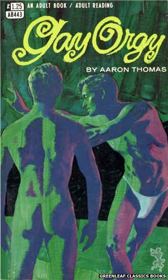 Adult Books AB443 - Gay Orgy by Aaron Thomas, cover art by Darrell Millsap (1968)