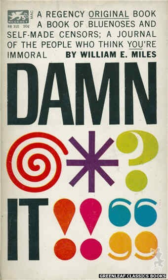Regency Books RB310 - Damn It by William E. Miles, cover art by Ron Bradford (1962)