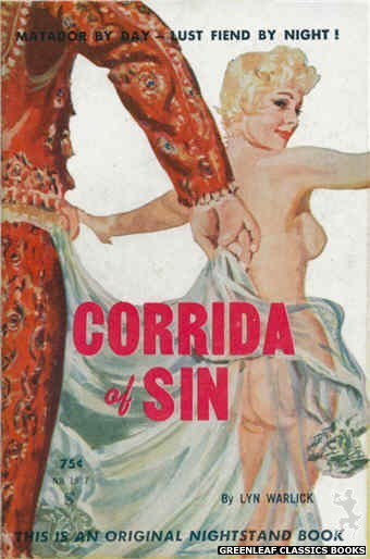 Nightstand Books NB1587 - Corrida of Sin by Lyn Warlick, cover art by Harold W. McCauley (1961)