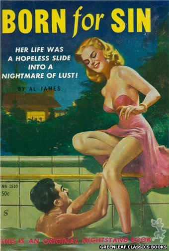 Nightstand Books NB1510 - Born For Sin by Al James, cover art by Harold W. McCauley (1960)