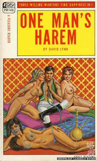 Pleasure Reader PR146 - One Man's Harem by David Lynn, cover art by Ed Smith (1967)