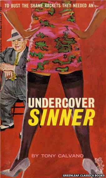 Leisure Books LB1147 - Undercover Sinner by Tony Calvano, cover art by Robert Bonfils (1966)