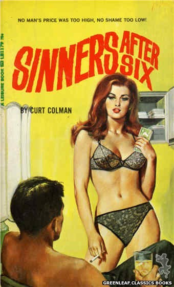 Leisure Books LB1179 - Sinners After Six by Curt Colman, cover art by Unknown (1966)