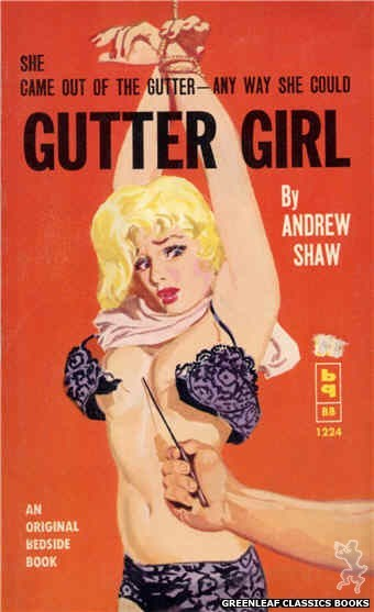 Bedside Books BB 1224 - Gutter Girl by Andrew Shaw, cover art by Harold W. McCauley (1962)