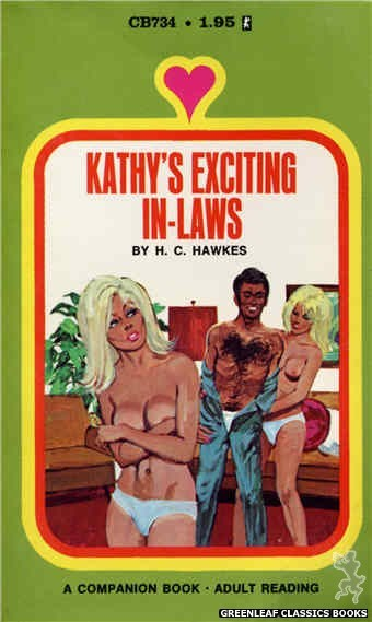Companion Books CB734 - Kathy's Exciting In-Laws by H.C. Hawkes, cover art by Unknown (1971)