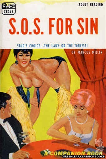 Companion Books CB528 - S.O.S. For Sin by Marcus Miller, cover art by Darrel Millsap (1967)