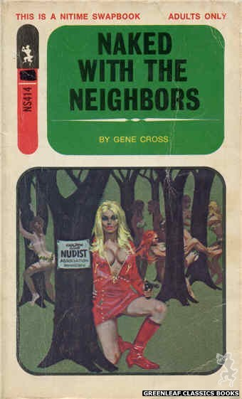 Nitime Swapbooks NS414 - Naked With The Neighbors by Gene Cross, cover art by Robert Bonfils (1971)