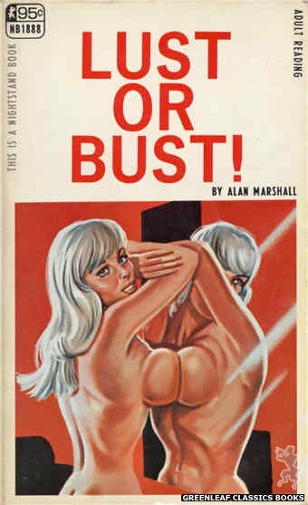 Nightstand Books NB1888 - Lust Or Bust! by Alan Marshall, cover art by Tomas Cannizarro (1968)