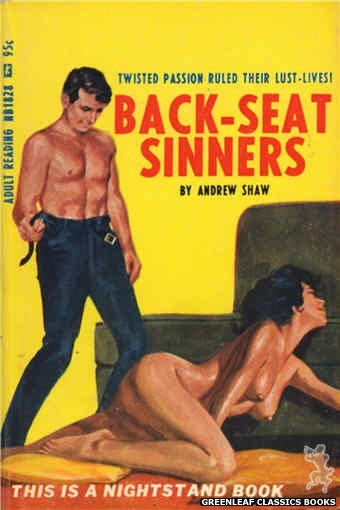 Nightstand Books NB1828 - Back-Seat Sinners by Andrew Shaw, cover art by Darrel Millsap (1967)