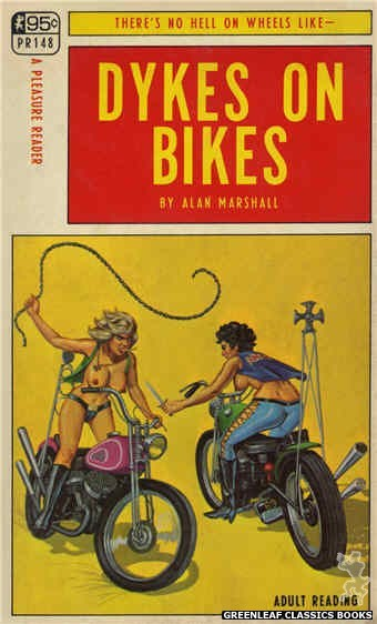 Pleasure Reader PR148 - Dykes On Bikes by Alan Marshall, cover art by Ed Smith (1967)