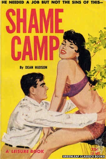 Leisure Books LB640 - Shame Camp by Dean Hudson, cover art by Unknown (1964)