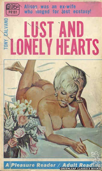 Pleasure Reader PR181 - Lust And Lonely Hearts by Tony Calvano, cover art by Tomas Cannizarro (1968)