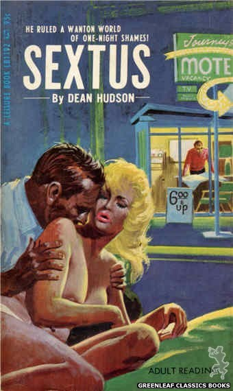 Leisure Books LB1192 - Sextus by Dean Hudson, cover art by Robert Bonfils (1967)