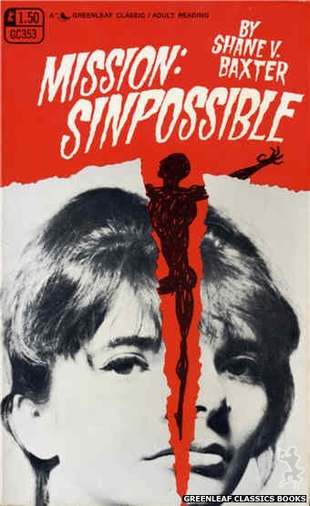 Greenleaf Classics GC353 - Mission: Sinpossible by Shane V. Baxter, cover art by Photo Cover (1968)