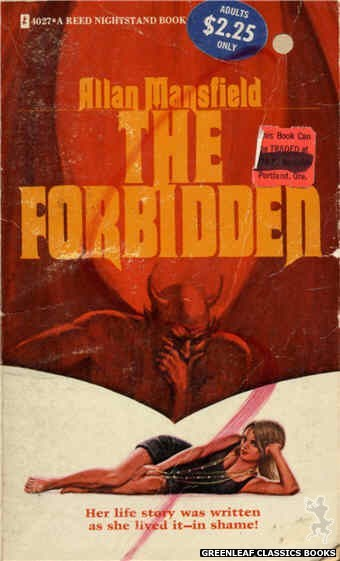 Reed Nightstand 4027 - The Forbidden by Allan Mansfield, cover art by Ed Smith (1974)