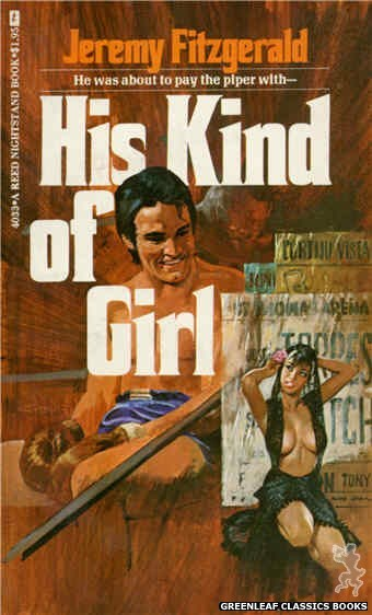 Reed Nightstand 4033 - His Kind of Girl by Jeremy Fitzgerald, cover art by Robert Bonfils (1974)