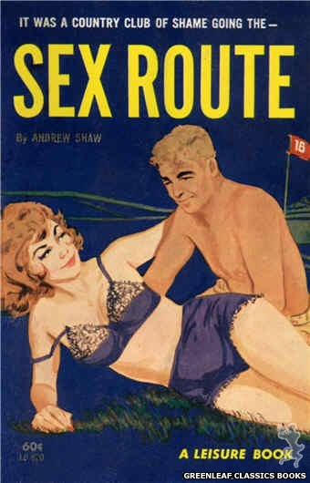 Leisure Books LB620 - Sex Route by Andrew Shaw, cover art by Unknown (1963)