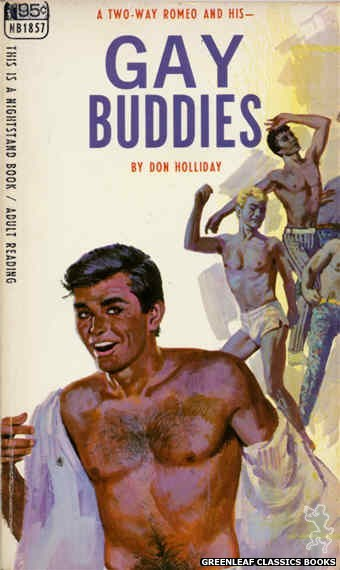 Nightstand Books NB1857 - Gay Buddies by Don Holliday, cover art by Darrel Millsap (1967)