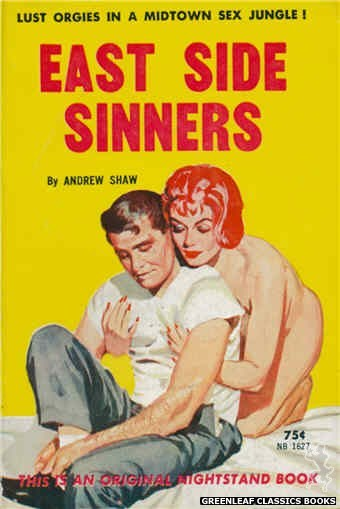 Nightstand Books NB1627 - East Side Sinners by Andrew Shaw, cover art by Harold W. McCauley (1962)