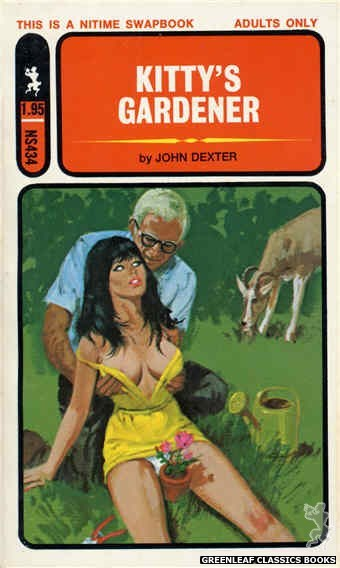 Nitime Swapbooks NS434 - Kitty's Gardener by John Dexter, cover art by Robert Bonfils (1971)
