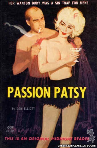 Midnight Reader 1961 MR475 - Passion Patsy by Don Elliott, cover art by Unknown (1963)