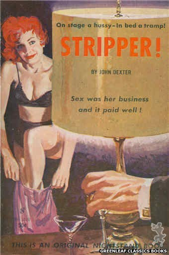 Nightstand Books NB1530 - Stripper! by John Dexter, cover art by Harold W. McCauley (1960)