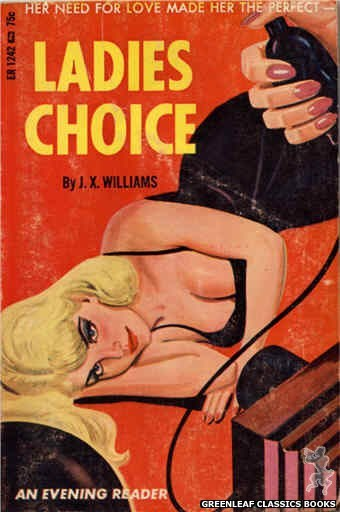 Evening Reader ER1242 - Ladies Choice by J.X. Williams, cover art by Tomas Cannizarro (1966)