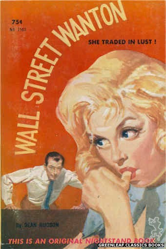 Nightstand Books NB1583 - Wall Street Wanton by Dean Hudson, cover art by Harold W. McCauley (1961)