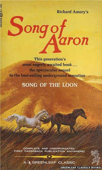 Greenleaf Classics GC222 - Song of Aaron by Richard Amory, cover art by Robert Bonfils (1967)