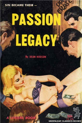 Leisure Books LB629 - Passion Legacy by Dean Hudson, cover art by Robert Bonfils (1964)