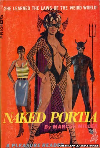 Pleasure Reader PR104 - Naked Portia by Marcus Miller, cover art by Ed Smith (1967)