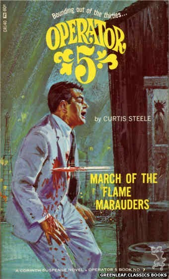 Corinth Regency CR140 - March of the Flame Marauders by Curtis Steele, cover art by Robert Bonfils (1966)