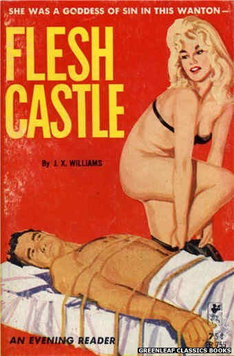Evening Reader ER755 - Flesh Castle by J.X. Williams, cover art by Unknown (1964)