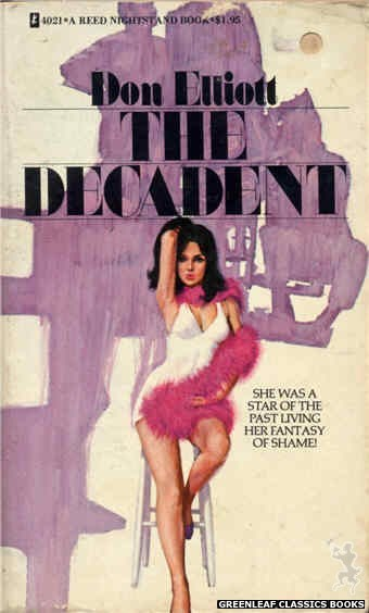 Reed Nightstand 4021 - The Decadent by Don Elliott, cover art by Ed Smith (1974)