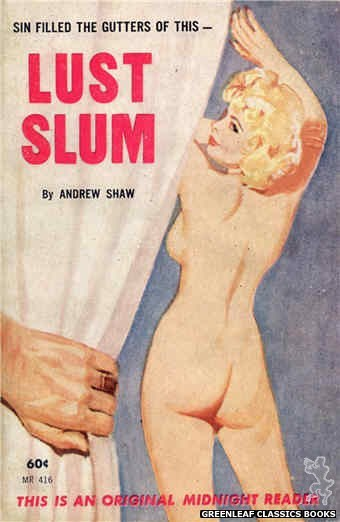 Midnight Reader 1961 MR416 - Lust Slum by Andrew Shaw, cover art by Harold W. McCauley (1962)
