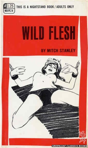 Nightstand Books NB1924 - Wild Flesh by Mitch Stanley, cover art by Harry Bremner (1969)