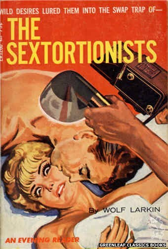 Evening Reader ER1260 - The Sextortionists by Wolf Larkin, cover art by Tomas Cannizarro (1966)