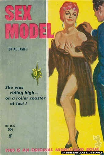 Nightstand Books NB1527 - Sex Model by Al James, cover art by Harold W. McCauley (1960)